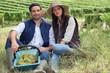 Couple of winegrowers
