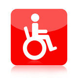 Handicap icon isolated on white background
