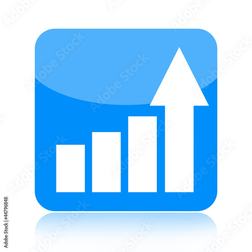 Business growth statistical graph icon
