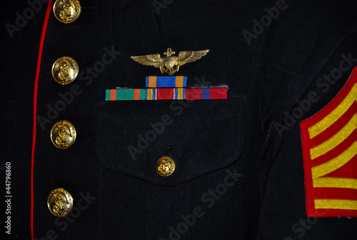 details of a us marine parade uniform