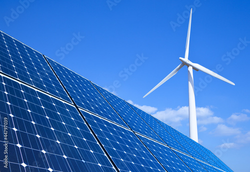 Tuinposter Openbaar geb. Renewable Energy