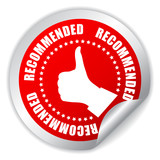 Recommended vector sticker
