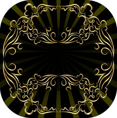 Decorative gold background for text.