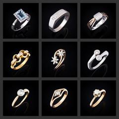 Set of diamond rings