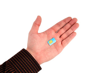 sim card in hand