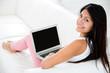 Woman online