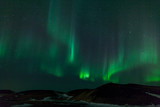 Fototapeta Northern lights over  craters in Iceland