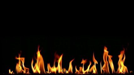 Seemless HD fire on black background