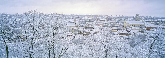 Vilnius sous la neige