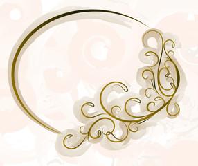 Elegant oval frame