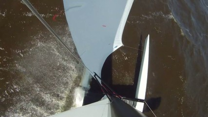 Catamaran from above