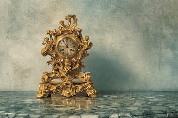 Vintage golden clock