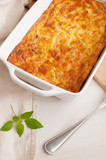 Cheese and vegetables gratin casserole