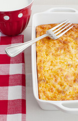Baked eggs and cheese casserole