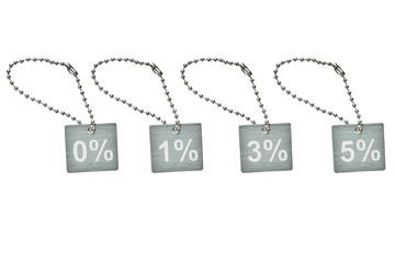 Silver metal discount tag
