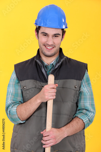 Portrait of a smiling tradesman