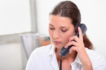 Secretary on the phone