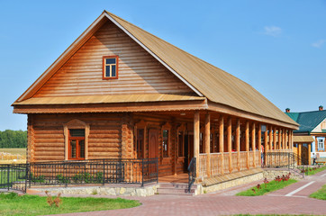 Traditional russian rural wooden house