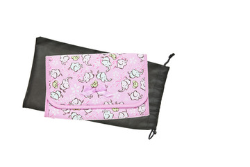 Pink purse with elephants