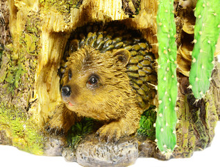 Hedgehog in the burrow