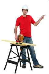 Carpenter with work-bench