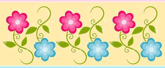 Cute floral border