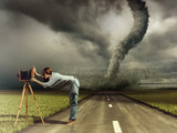 Fototapeta kamera - tornado - Inne