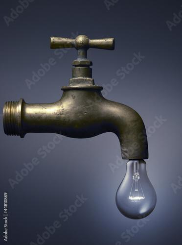 tap with a light bulb - rubinetto con lampadina