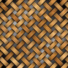 Braided Wooden Background