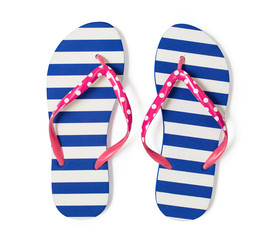 flip flops isolated on white with clipping path included without