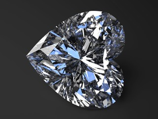 beautiful heart-shaped diamond render