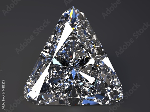 beautiful  diamond render with refraction and caustic