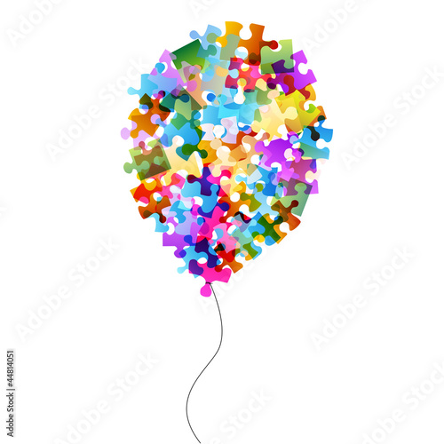 colorful puzzle balloons