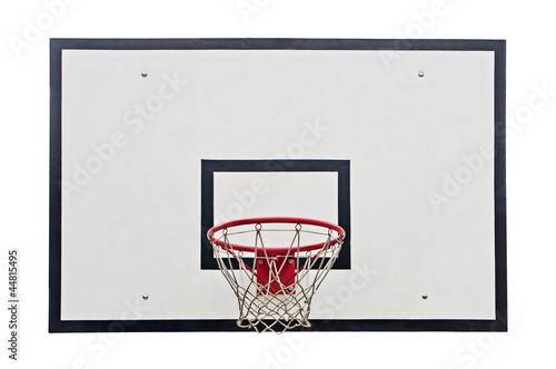 Basketball hoop on white background