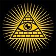 Allsehendes Auge Gottes - Pyramide - Trinität