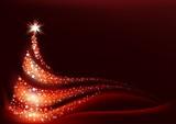 Fototapeta Abstract Christmas Tree