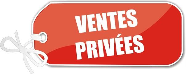 étiquettes ventes privées
