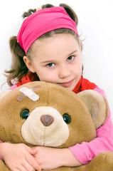 Mädchen mit Teddybaär