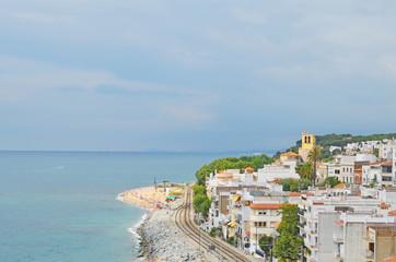 Vista de Sant Pol, pueblo costero de Catalunya