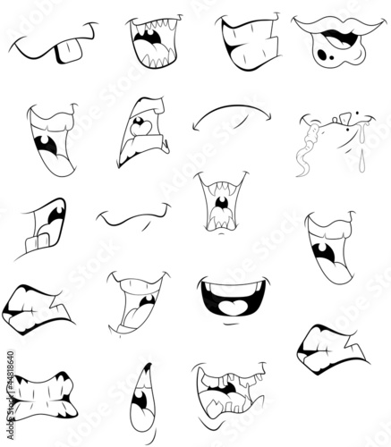 Cartoon Laughing Mouth Cartoon Mouths Vectors