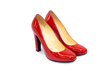 Red female shoes-10