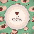 Coffee background in retro style