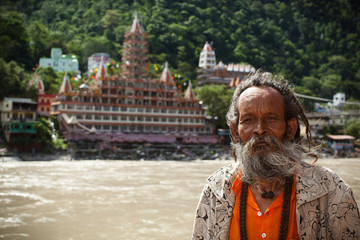 Indian sadhu in Rishikesh