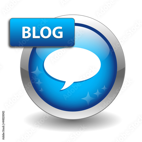 """BLOG"" Web Button (internet news online website forum community)"