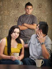 Disprespectful Teen with Parents