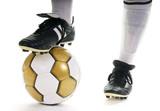 Fototapety Fussball – Technik: Ball stoppen