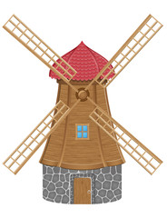 windmill vector illustration