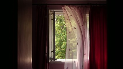 Ghostly Wind Blows Away Curtains