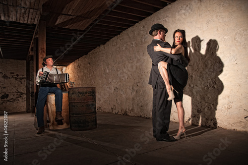 Tango Dancers With Bandonion Player