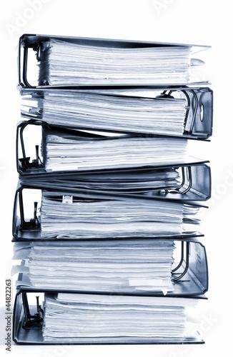 Leinwandbild Motiv high stack of folders